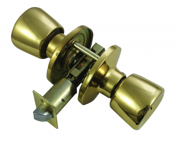 ERA 168-32 Bathroom  Privacy Knobset - Brass
